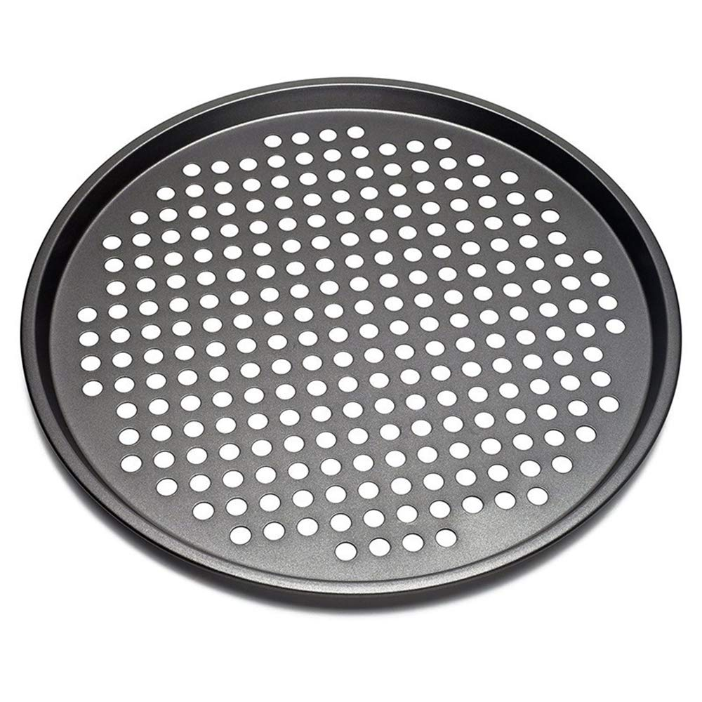 Nonstick Carbon Steel Pizza Baking Pan Pizza Tray with Holes 11 Inch
