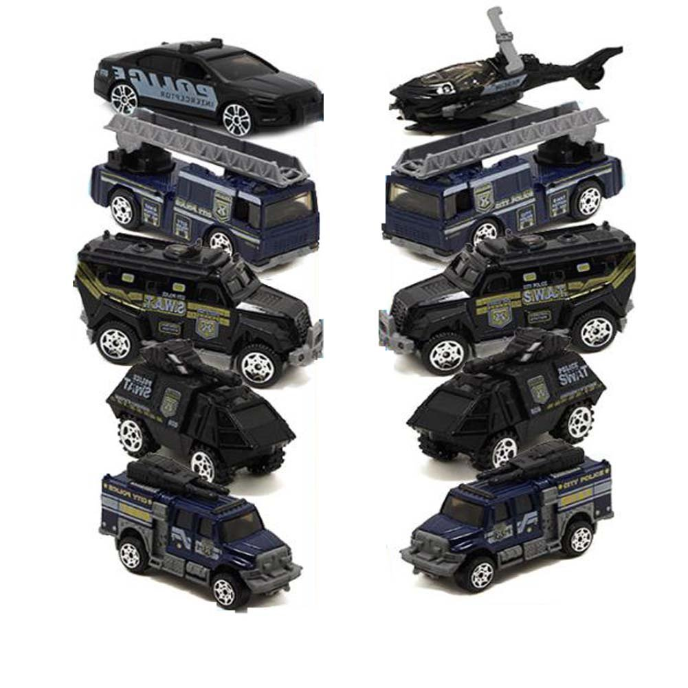 Hornet Park 警察車スーツ 子供用 おもちゃの車モデル 子供用ギフト 5個セット (ランダムミックス発送) B07GBN4KL7