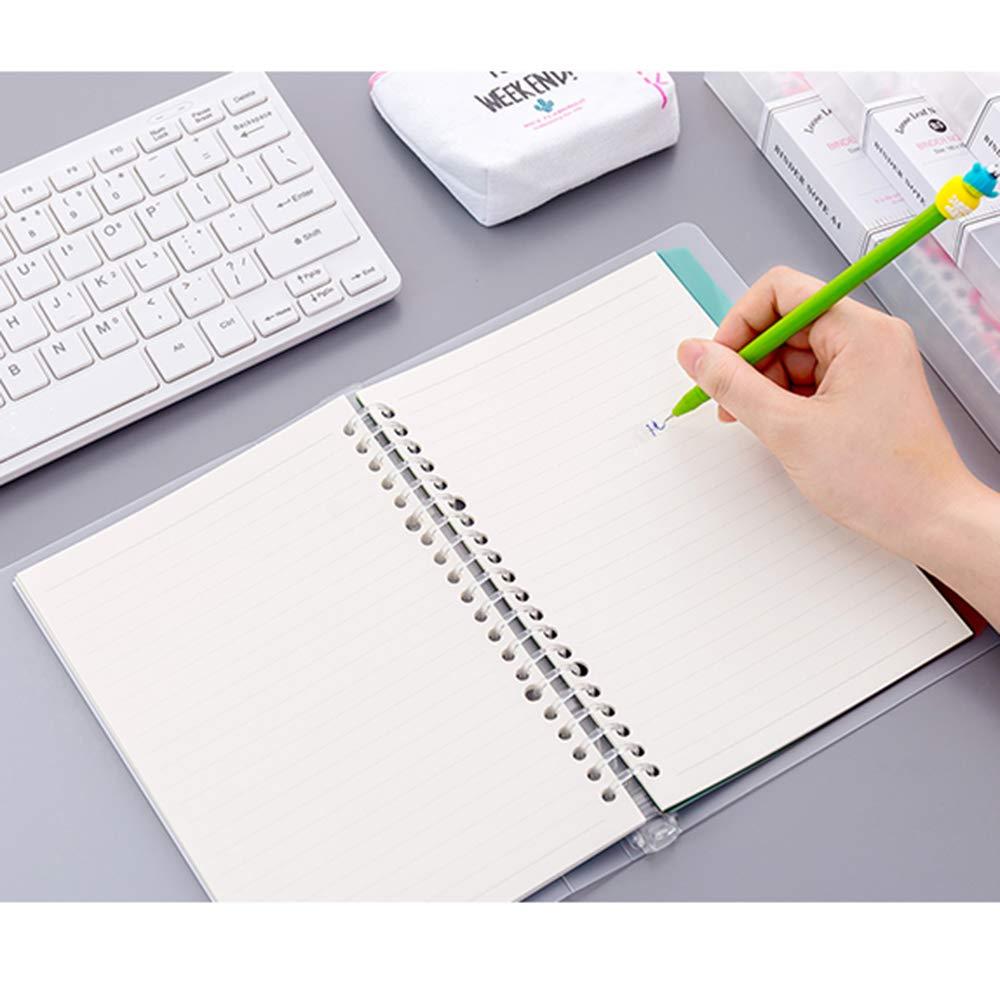 Amazon.com: Cuaderno de hojas de 20 anillas, tamaño A5, con ...