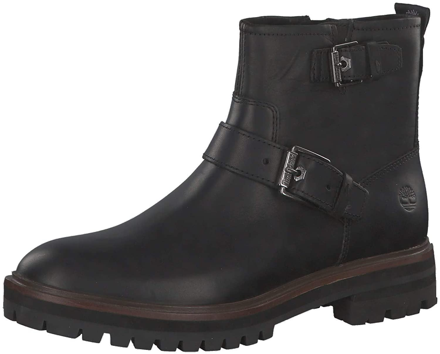 minimo tiepido piuma  Amazon.com | Womens Timberland London Square Biker Twin Strap Flat Closed  Toe Boots | Boots