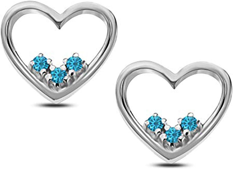 Suhana Jewellery Heart Earrings Collections 14K Rose Gold Fn CZ Stud Earring for Girls Womens Daily Wear Jewellery