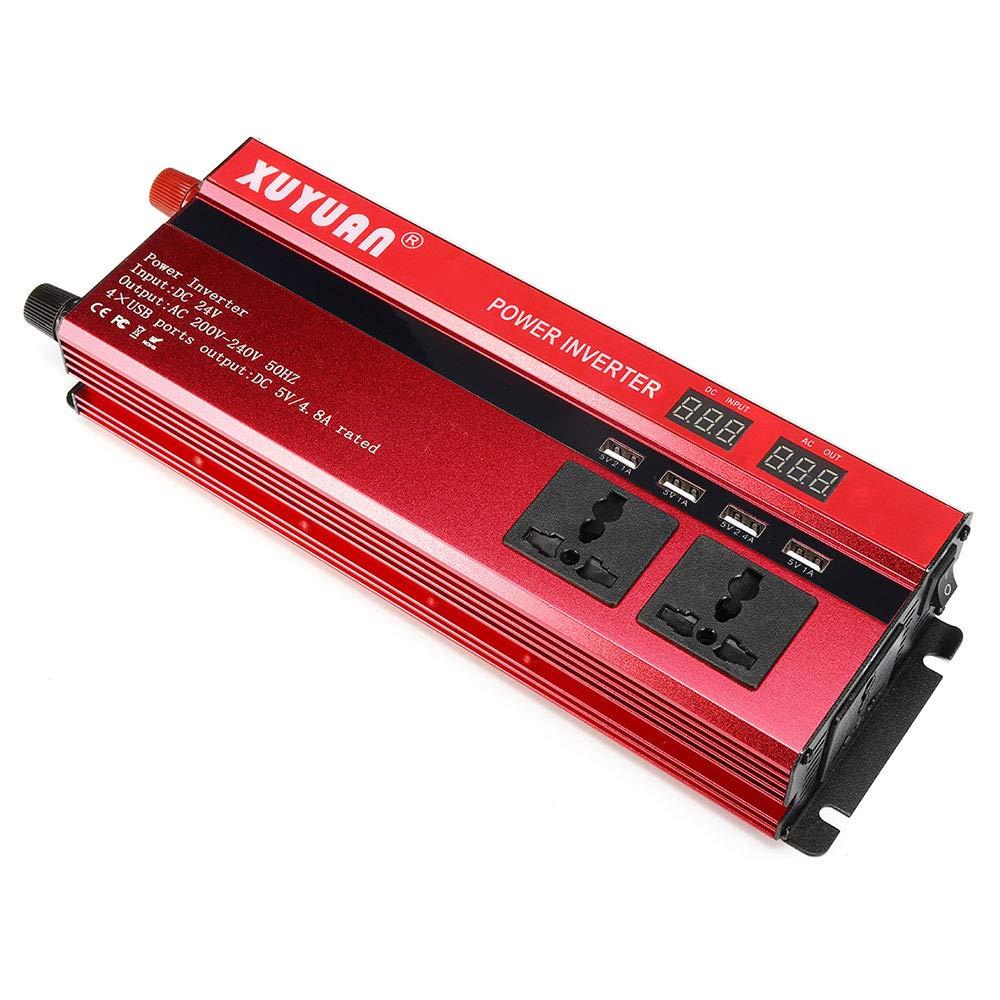 TOPmountain convertitore CC da 12V a 220 V CA per elettrodomestici Inverter di Potenza Peak 600W per Auto