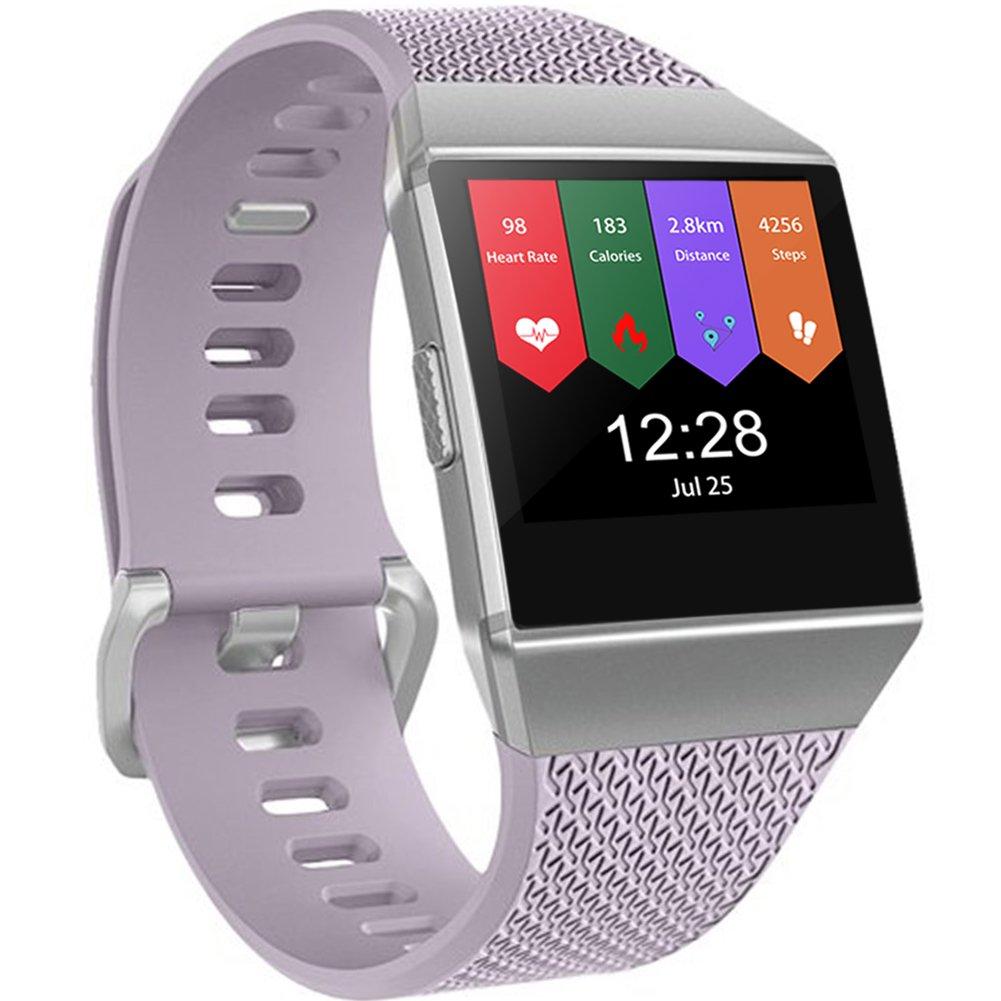 Geak Fitbit ALTAバンドとFitbit ALTA HRバンド、スポーツ用交換アクセサリーリストバンド安全腕時計バックル、S、Lサイズ、ブラックブルーレッドグレーピンクand Teal Large|#Lavender #Lavender Large B075WNW8J1