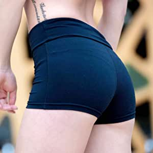 Beiziml Women Yoga Shorts High Waist Sports Gym Short Training Fitness Bottom Sportswear Quick Dry Running Elastic Tight Short Hip Shape