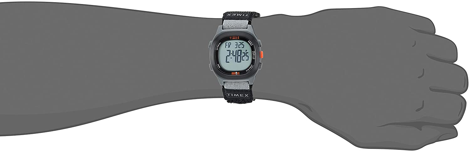 Amazon.com: Timex Mens TW5M19300 Ironman Transit Full-Size Black/Red Fast Wrap Watch: Watches
