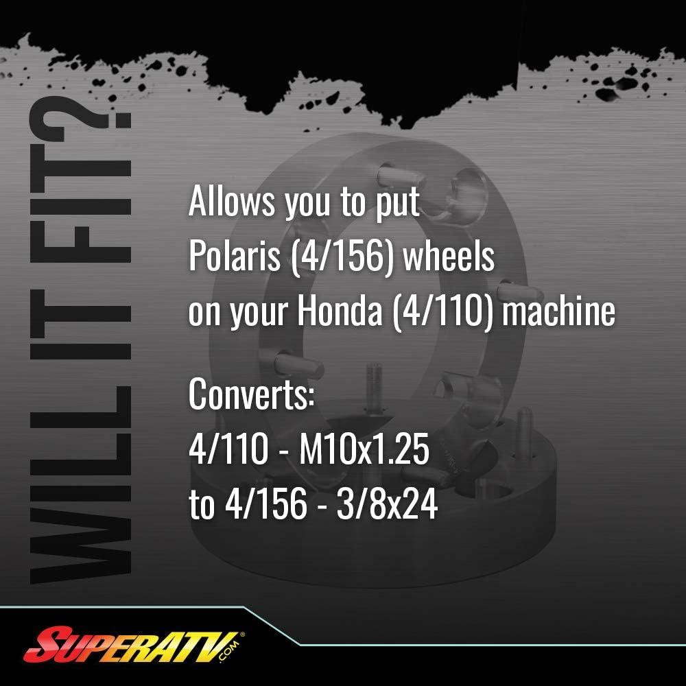 Super ATV 1.5 Wheel Adapters 4//110 to 4//156 WSP18-PR Set of 4