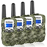 Wishouse Walkie Talkies for Kids,Popular Toys for Boys and Girls Best Handheld Woki Toki with Flashlight,License Free Kids Survival Gear for Hunting and Outdoor Adventure(T388 Camouflage 4 Pack) (Color: 2 Pairs T388 Camouflage)
