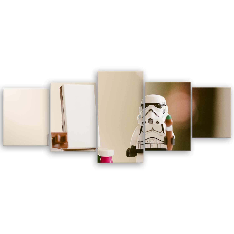 ge Bildet !!! SENSATIONSPREIS Hochwertiges Leinwandbild - Stormtrooper V Creative - 30 x 20 cm einteilig | Angebote der Woche Geschenke für Frauen Geschenke für männer | ge-Bildet