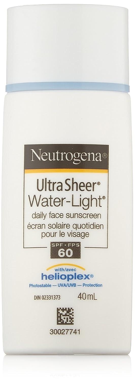 Neutrogena Face Sunscreen Lotion SPF 60, Ultra Sheer Water Light Facial Sun Cream, Water Resistant, 40mL 02331373