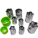 ScivoKaval Stainless Steel Vegetable Cutters Shapes Set, Mini Fruit Cutter Cookie Mold, Cute Flower Shape