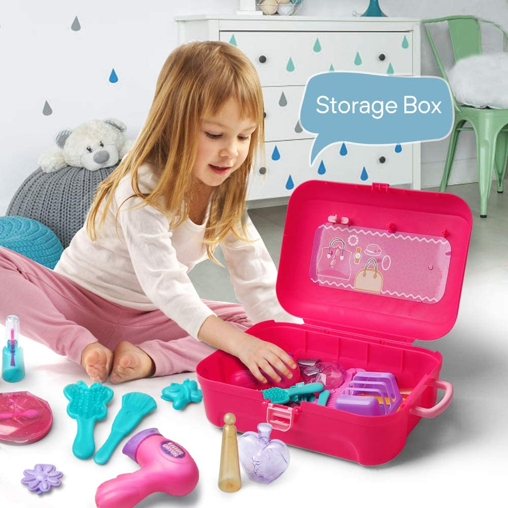 Gizmovine Play Makeup Set for Children,Kids Make it Up for Little Girls Princess Toys for Toddlers