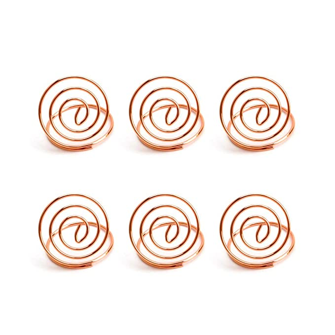 24 Pcs Table Number Holders Ring Shape Card Holder Circle Stereo Note Pad Menu Clips Office & School Supplies