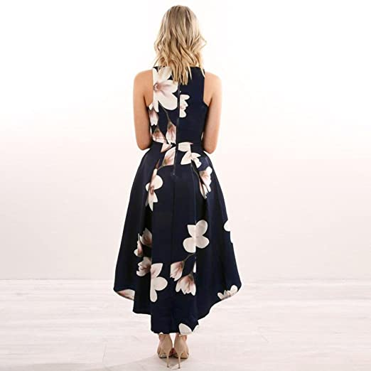 5760f23521 Auwer Maxi Dress, Womens Flower Print Long Boho Dress Lady V-Neck Summer  Beach Sundrss Maxi Dress at Amazon Women's Clothing store: