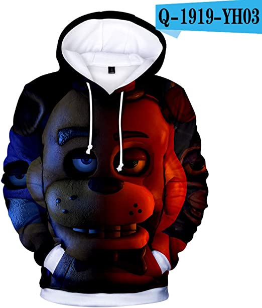 FJX Sweat à Capuche De Dessin Animé 3D Imprimé De Mode Hip
