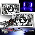 White LED Signal For Chevy/Gmc! 4X6 H4651 H4656 Reflector Headlights H4 HID 10000K