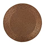 Set of 4 PCS, 15'' Beaded Round Mat, Copper