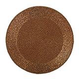Set of 4 PCS, 15'' Beaded Round Mat, Copper