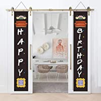 Friends TV Show Birthday Decorations - Happy Birthday Outdoor Hanging Signs Decor - Friends Themed Sign for Front Door…