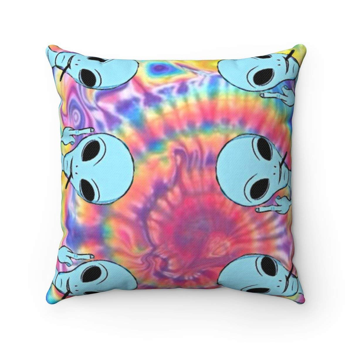 Buy Pattebom Alien Throw Pillow Tie Dye Home Decor Hipster Bedroom Funny Apartment Tumblr Cushion Online At Low Prices In India Amazon