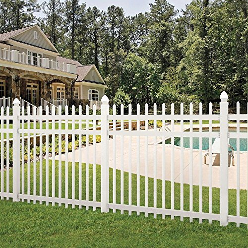 Manchester 6 ft. H x 6 ft. W Spaced Picket Vinyl Fence Panel - Unassembled