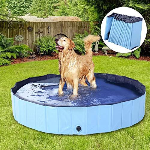DreiWasser Dog Pool Foldable Pet Outdoor Swimming Pool Collapsible Anti-Slip Hard PVC Pet Paddling Bathtub for Large and…
