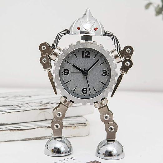 LTOOD Robot Alarm Clock_Creative Metal Gear Robot Alarm Clock ...