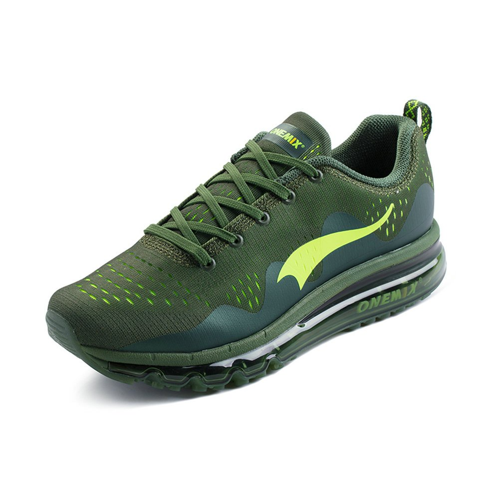 ONEMIX Air Cushion Sports Running Shoes for Men and Women New Wave Casual Walking Sneakers B0734FNMM4 Men 8.0(M)US/Women 9.5(M)US 41EU|Olive Green
