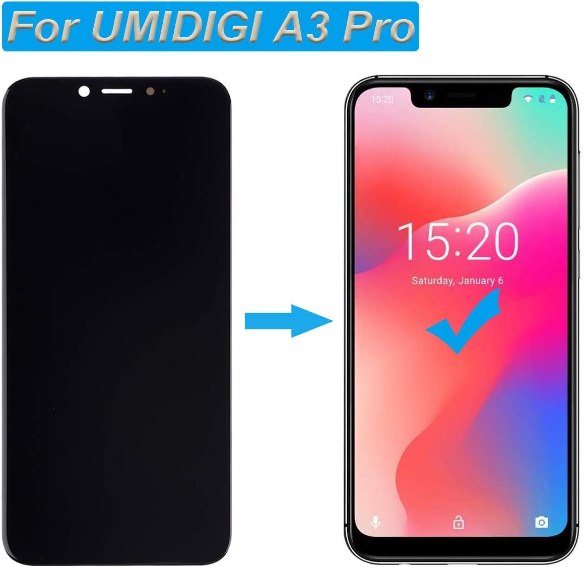 E-YIIVIIL - Pantalla LCD táctil compatible con UMIDIGI A3 Pro de 5,7