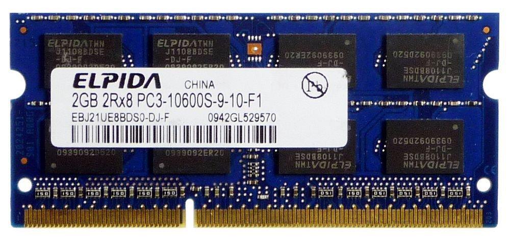 Elpida - Módulo de memoria RAM para ordenador portátil Elpida EBJ21UE8BDS0- DJ-F PC3-10600S-9-10-F1 ID10889 (1 GB): Amazon.es: Informática