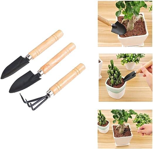 Chytaii 3pcs Herramientas de Jardinería Mini Rastrillo de Jardin Pala Azada para Jardinero Mini Pala Mango de Metal Pala Rastrillo pala Herramienta de Jardinería: Amazon.es: Hogar