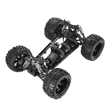 Sharplace Chasis de Parte Inferior de RC Camión 1/8 Escala Con Ruedas y Neumáticos
