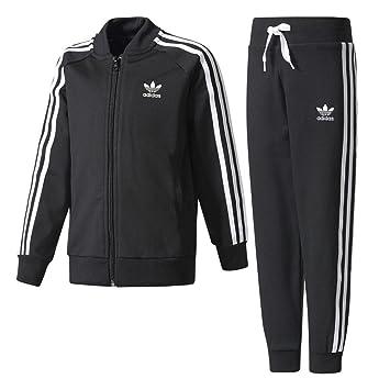 d501b320e Adidas Kids L Sst Tracksuit, Black, Size 128: Amazon.co.uk: Sports ...