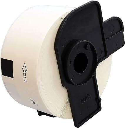 10 ROLLEN ETIKETTEN 62mm x 30.48m STANDARD für BROTHER P-touch QL-500 A