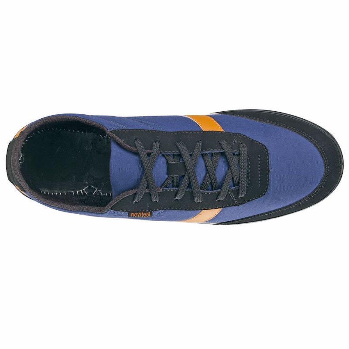 NEWFEEL - Zapatillas de Lona para niño Azul Blau-Orange-Schwarz/Blue-Orange-Black: Amazon.es: Zapatos y complementos