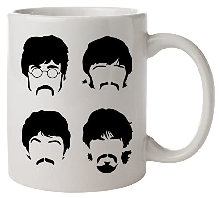 the beatles silhouette mug amazon co uk kitchen home