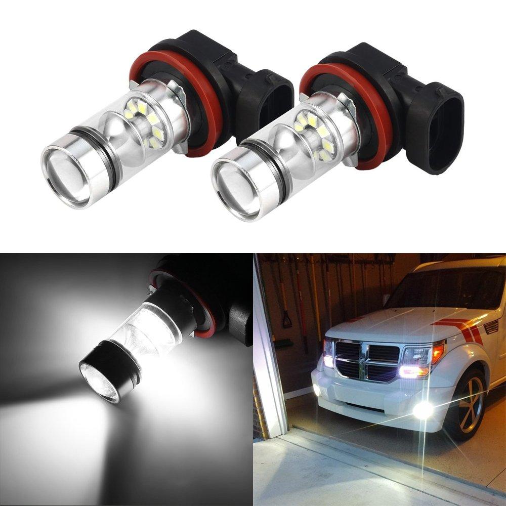 Lampadine Fendinebbia H1 100W LED, Mesllin 20SMD High Power DRL Lampade fari Daytime Running luce bianca 2-pack