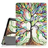 Fintie Slim Shell Case for Samsung Galaxy Tab S2 9.7 - Ultra Lightweight Protective Stand Cover with Auto Sleep/Wake Feature for Samsung Galaxy Tab S2 9.7 Inch Tablet, Love Tree