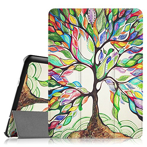 Fintie Slim Shell Case for Samsung Galaxy Tab S2 9.7 - Ultra Lightweight Protective Stand Cover with Auto Sleep/Wake Feature for Samsung Galaxy Tab S2 9.7 Inch Tablet, Love Tree primary