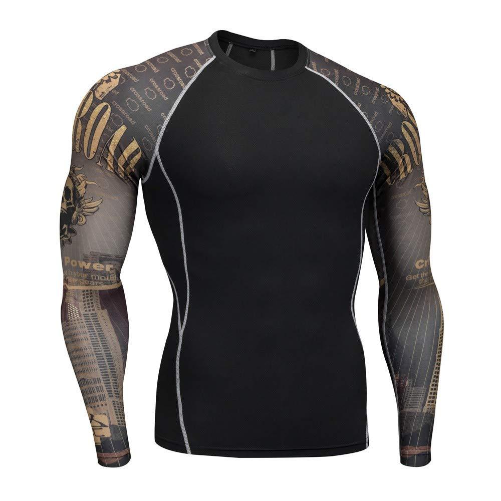 Robemon➳Mode Homme S/éance Leggings Fitness /Élastique T-Shirt Set Gym Courir Yoga Athl/étique Jeans Pantalons+Shirt Costume S/échage Rapide