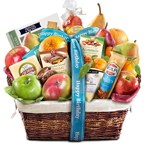 Fruit Birthday Basket (Golden State Fruit Gourmet Abundance Gift Basket, Birthday)