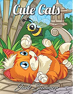 Cute Cats An Adult Coloring Book With Funny Adorable Kittens And Hilarious