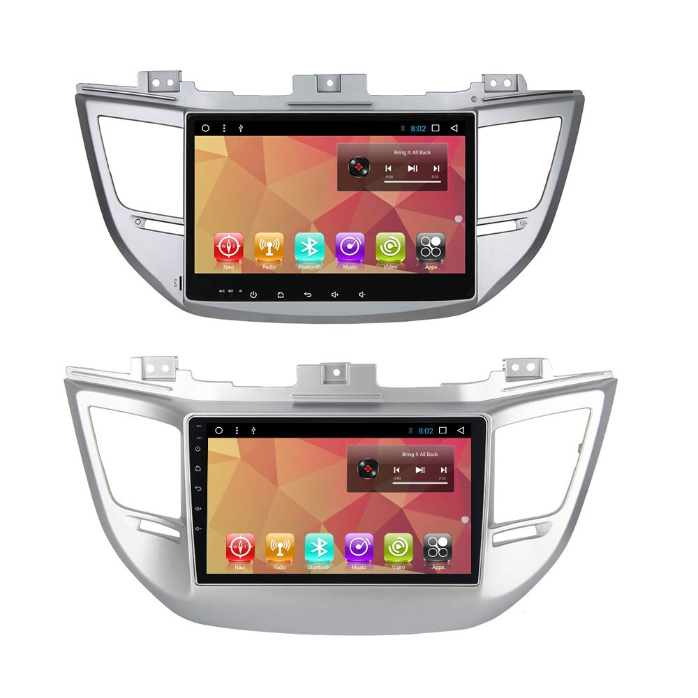 10.1 inch Android 7.1 Car Radio GPS Player for Hyundai IX35 Tucson 2015 2016 2017 Navi Stereo Multimedia Players with Buetooth WiFi Head Unit Navigation (Android 7.1 2+32 G for Tucson)