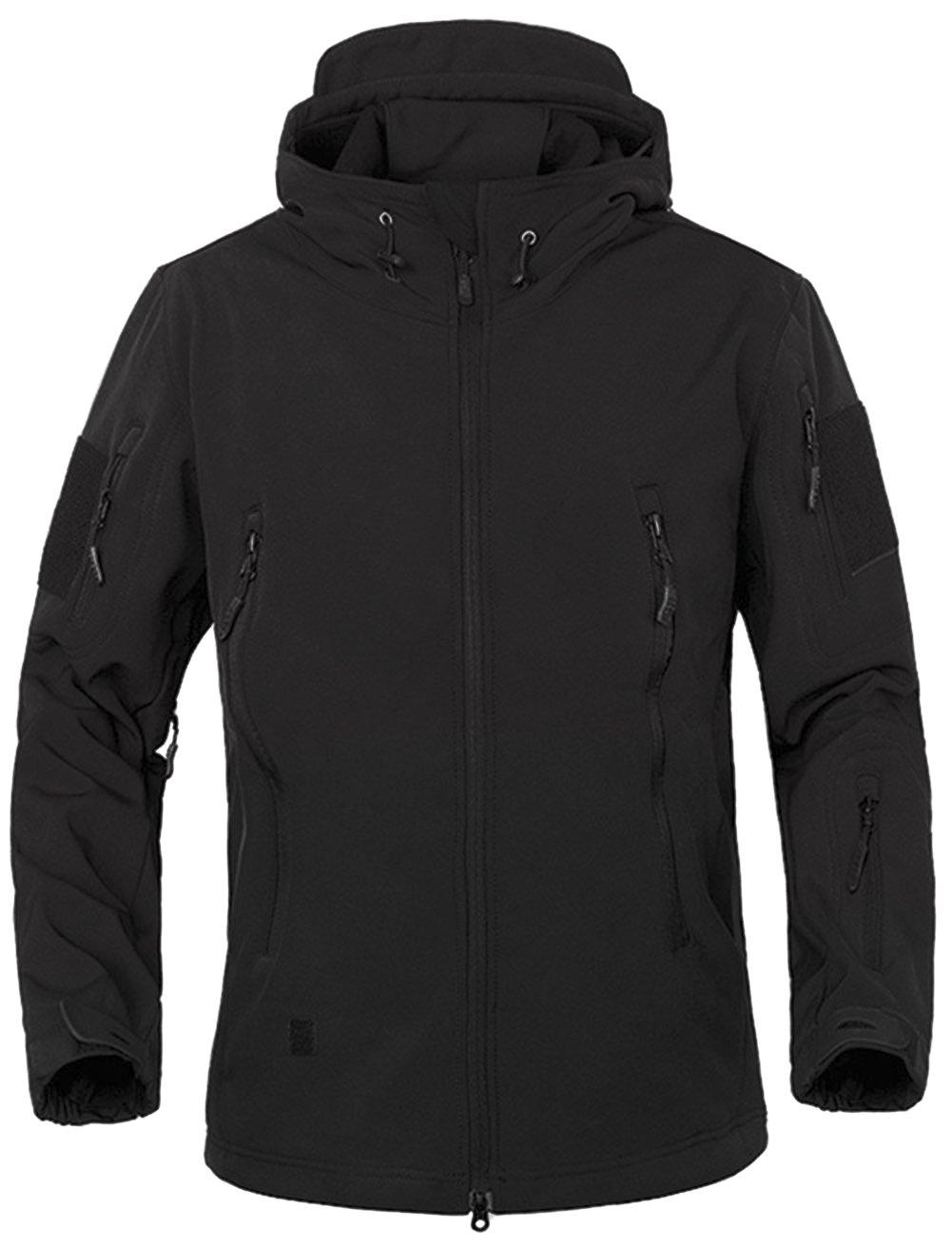 87df0086fa0b6 TACVASEN Military Waterproof Men's Softshell Jacket Fleece Lining Camouflage  Outdoor Coat: Amazon.co.uk: Sports & Outdoors