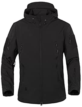 928c6b6f95135 TACVASEN Winter Jacket Men Waterproof Warm Black Military Jacket Hooded  Softshell Fleece Jacket with hood Airsoft