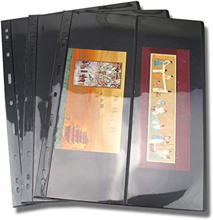 10 páginas de sellos para álbum de hojas, hojas sueltas de PVC ...