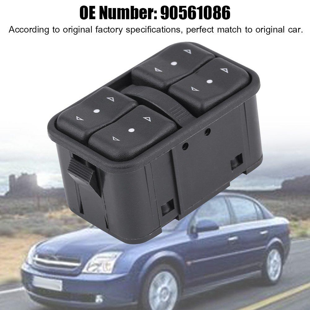 Qii lu Interruptor de Mando del Ventana de la Ventana de alimentaci/ón el/éctrica para Opel 90561086/