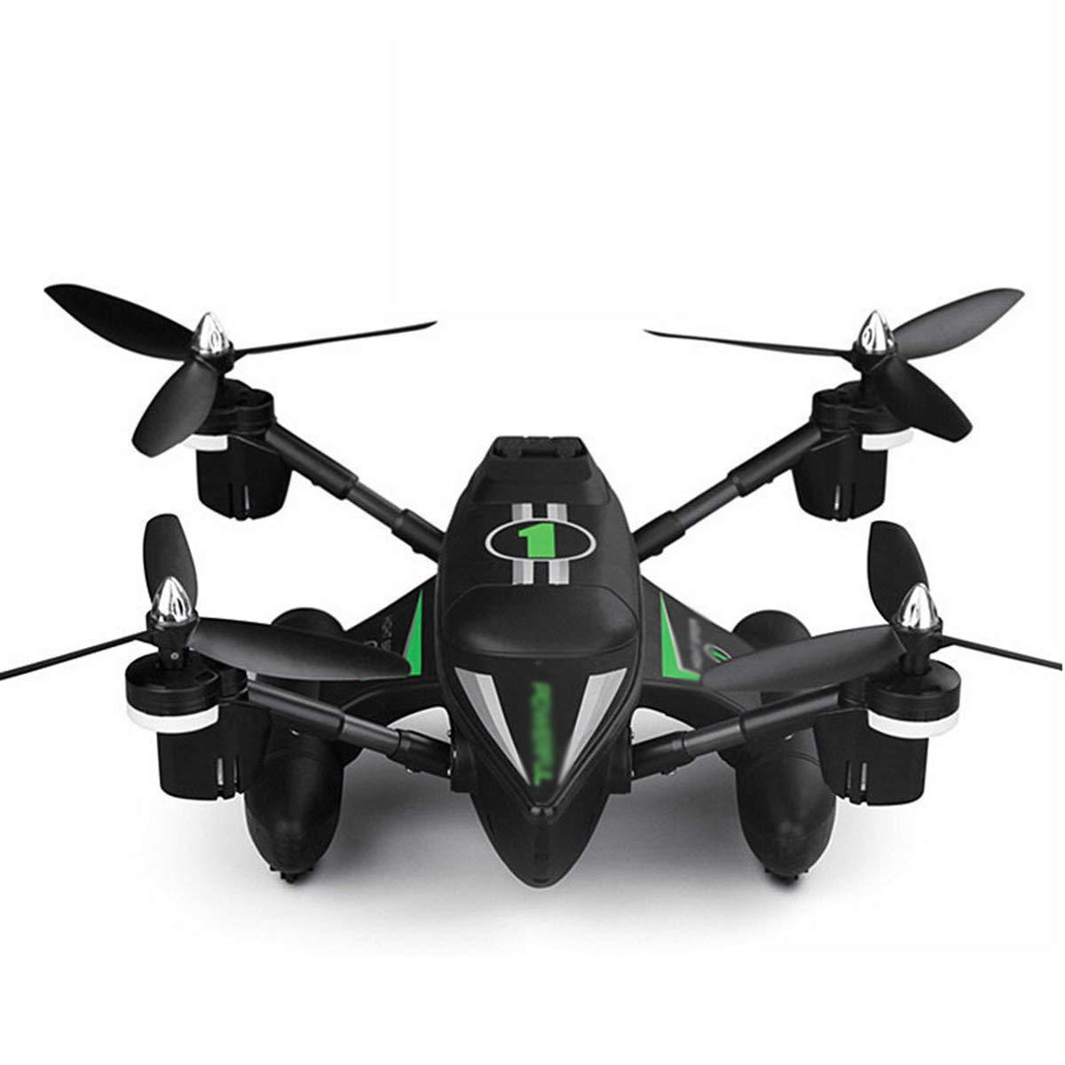 GTYW, 2.4G Drone Anfibio a Vela, Modello di Aeroplano RC, quadrupolo Marino, terrestre e Aereo, offrendo Regali Diverdeenti per i Bambini,verde- 36.5  36.5  12cm
