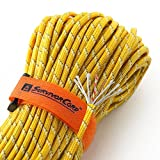 550 cord bracelet fire starter - TITAN SurvivorCord | REFLECTIVE YELLOW | 103 Feet | Patented Military Type III 550 Paracord/Parachute Cord (3/16 Diameter) with Integrated Fishing Line, Fire-Starter, and Snare Wire.