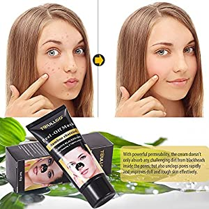 Peel Off Mask, Blackhead Remover Mask, Deep Cleasing Facial Mask, Activated Charcoal Black Purifying Peel-off Mask, Deep Cleansing Black Mud Mask with Tools, 60g