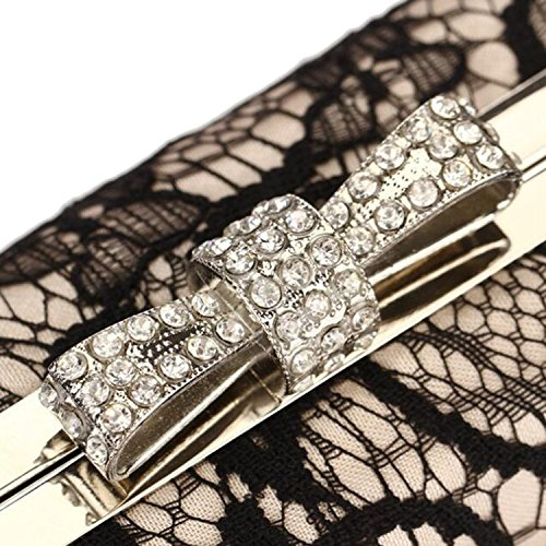 Party Gold Vintage Clutch Evening Handbags Purse EPLAZA Bags Lace Wedding Bridal Women TxRqw647Z